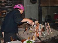 A grill pit is the focus of attention at Seigetsu | ROBBIE SWINNERTON PHOTOS
