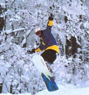 Andy Lunt flying through the air