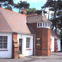 The cottage at Bletchley Park where  Turing conducted his code-breaking work during World War II