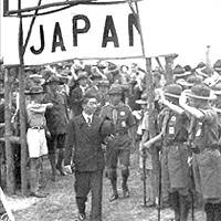 Prince Chichibu at an International Boy Scouts Conference in The Netherlands in summer 1937.