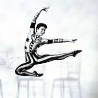 Tetsuya Kumakawa soars high in the Royal Ballet's 'Elite Syncopations' in 1990.