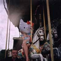 A still from 'Hotel Kittyfornia,' a film made for this year's Kitty Ex. exhibitions   (c)1974, 2004 SANRIO/ Jean-Charles de Castelbajac