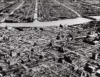 Easter Tokyo along the Sumida River after the firebombing and other raids in 1945