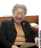 Former United Nations Commissioner for Refugees Sadako Ogata