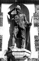 A statue of Alexander Selkirk, the real-life inspiration for Robinson Crusoe (Photos courtesy of Daisuke Takahashi and the National Geographic Society)