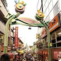 Narrow Takeshita-dori is lines with countless small stores selling accessories, clothes, gadgets and whatnots