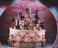 Dancers in a fantasy world of candies, in Matthew Bourne's version of the ballet 'Nutcracker,' which premiered in 1992.