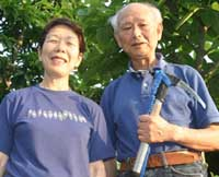 Everest climber Takao Arayama, 70, and Keiko, his wife of almost 40 years, at their home in Kamakura outside Tokyo. | ERIC PRIDEAUX PHOTO