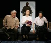 In this scene from Inoue's play 'Yume no Kasabuta,' a family in a remote town in northern Japan learn they have been chosen to put up the Showa Emperor for a night during his postwar national tour.