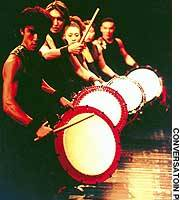 The Yamato durmmers, shown here in action on their recent world tour, are pushing the boundaries of wadaiko performance.