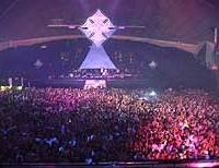 Some 13,000 New Year's revelers pack the Makuhari Messe event hall for Countdown 2003, Crystal Skulls: The Further Revelations.