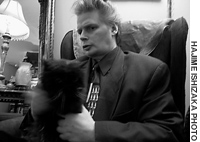 No wave pioneer James Chance, seen here ar his Manhattan home, is playung -- and dancing -- with Contortions once again.