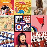 COVERED IN GLORY -- Clockwise from top left: Thee '50s High Teens' 'Punch de Beat'; Shonen Knife's 'Genki Shock'; Kumi Koda's 'Best: First Things'; Apartment's 'Afantgyaritech'; Polysics' 'Now is the Time!'; Limited Express (has gone)'s 'Makes You Dance'; Def Tech's 'Def Tech'; Shugo Tokumaru's 'L.S.T.'; center: 'Modern World: Japanese Mod & Freakbeat Showcase'