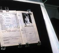 Other items on display at the John Lennon Museum include the famous Beatle's passport and one of the boxes sent to world leaders for the peace campaign.