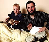 Arab Strap's Malcolm Middleton (left) and Aidan Moffat