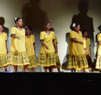 Dancers from Team Palau (above) and the Association for Preservation of Ogasawara South Pacific Dance (below) will celebrate their shared heritage at the Tokyo Summer Festival 2007.