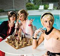 The Pipettes (left to right: Rosay, RiotBecki and Gwenno) bring their 1960s-styled pop to Summer Sonic this weekend.