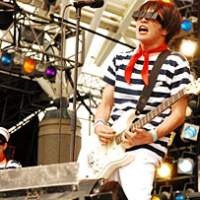 Hiroyuki Hayashi's Polysics controversially ditched their trademark boiler suits for these fetching outfits on the Lake Stage at Rock In Japan Fes. 2007, which took place Aug. 3-5.   KENJI KUBO (above)/DANIEL ROBSON PHOTOS
