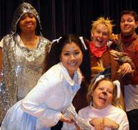 The cast of 'The Magical Land of Oz' get into character.