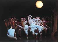 Adam Cooper (center) and the corps de ballet in 'Swan Lake'