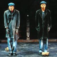 The Human Spirit is broken but unbowed in Martin Sherman's 'Bent' (above), as Max (Kippel Shiina) and Horst (Kenichi Endo) talk each other to climax while laboring in a concentration camp. Yukio Ninagawa's 'Titus Andronicus' looks beyond the savagery to find complex themes of loyalty in Shakespeare's bloodiest drama. | PHOTOS COURTESY OF PARCO THEATRE/SAITAMA ARTS CENTER