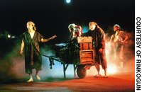 Rinkogun actors perform in the 2003 production of 'Lost in the War.'
