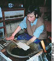 Taro Omori of Uchiko could be the last surviving practitioner of traditional candle-making.