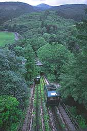 A water-powered cliff railway