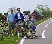 Family biking weekends for a song