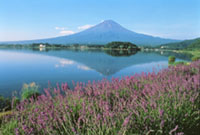 Mount Fuji (above), a 3,776-meter dormant volcano, is one of the best-known symbols of Japan; Climbers enjoy the magnificent view of Lake Yamanaka from the Fifth Station of Kawaguchiko-guchi trail. | PHOTOS COURTESY OF THE JAPAN NATIONAL TOURIST ORGANIZATION