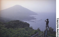 Mount Miharayama provides a panoramic view of the port of Sodoko and Mount