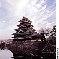 Though Matsumoto Castle in Nagano Prefecture, built in the 16th century, never actually saw any military action, it is regularly besieged by tourists.