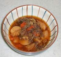 A bowl of nikujaga (meat-and-potato stew), which is Maizuru's official dish