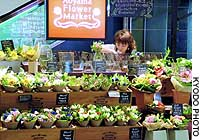 An employee prepares flowers at an Aoyama Flower Market outlet in Shibuya Ward, Tokyo.