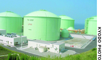 The nation's first state-run LPG stockpiling facility has been completed in Nanao, Ishikawa Prefecture.