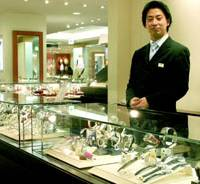 Franck Muller Swiss watches and other high-quality goods are showcased on the sixth floor of Takashimaya Co.'s flagship store in Tokyo's Nihonbashi district.