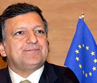 European commission President Jose Manuel Barroso addresses a lecture meeting at the Tokyo Chamber of Commerce and Industry in Tokyo on April 21.