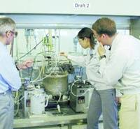 Emi Koiso (second from right) takes part in an internship program at German chemical firm BASF's head office in Germany in 2003 before joining its Japanese subsidiary.