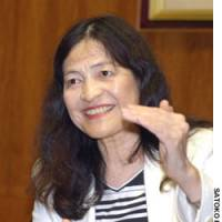 Miyako Suda, the only woman on the Bank of Japan's nine-member Policy Board, speaks during a recent interview at BOJ headquarters in Tokyo's Chuo Ward.