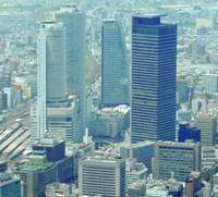 A number of high-rises have gone up near JR Nagoya Station in recent years. Land prices in this city were up more than 20 percent as of Jan. 1.   KYODO PHOTO
