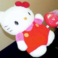 Tomy Co.'s Hello Kitty foot warmers are subject to recall as they can cause burns. | KYODO PHOTO