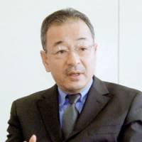 Livedoor Co. President Kozo Hiramatsu speaks about the company's recovery efforts during an interview at his office at Roppongi Hills in Tokyo. | KYODO PHOTO