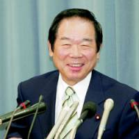 Finance Minister Fukushiro Nukaga speaks about the fiscal 2008 draft budget at a news conference Thursday. | KYODO PHOTO