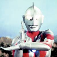 Ultraman strikes a classic pose in this 1966 file photo. | TSUBURAYA PRODUCTION CO. PHOTO / KYODO