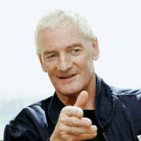 James Dyson is interviewed last week during a visit to Tokyo to promote Dyson Ltd.'s new vacuum cleaner. | KYODO PHOTO