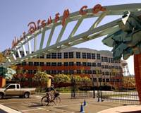 The entrance to the Walt Disney Corp. office and studio complex is shown in this file photo. Walt Disney Corp. will team up with two Japanese studios to produce animation products in Japan. | AP PHOTO
