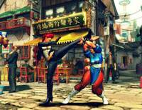 Newcomer Crimson Viper takes on classic character Chun-Li in 'Streetfighter IV.' | FELICITY HUGHES PHOTOS