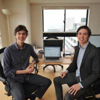 Silver lining: John Hideyoshi Martyn (left) and Billy Kosuke Martyn (right), cofounders and CEOs of the Tokyo-based startup Language Cloud. | YOSHIAKI MIURA