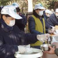 Buddhist volunteers reaching out to the homeless of Tokyo