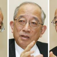 Ringing the alarm bell: Kazuhiko Togo, former chief of the Foreign Ministry's European and Oceanic Affairs Bureau, speaks during an interview in Tokyo in Jan. 14. | KYODO